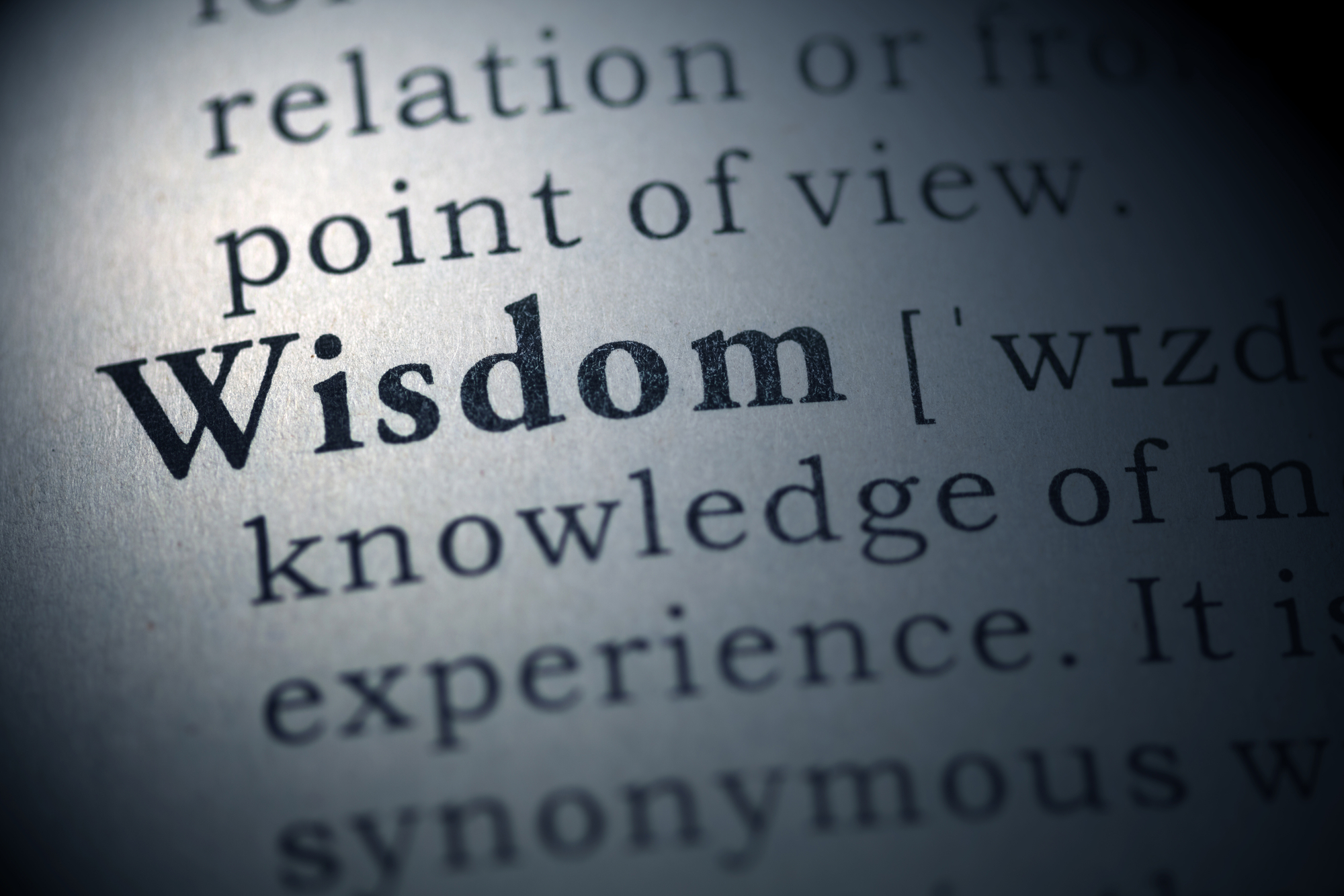 To show a list of wisdom insights can help build resilience